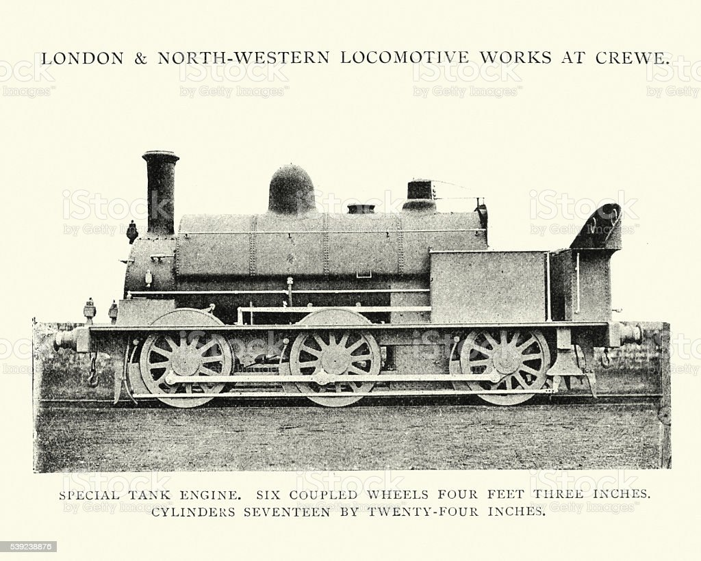 LNWR Special Tank Engine royalty-free lnwr special tank engine stock vector art & more images of 1890-1899