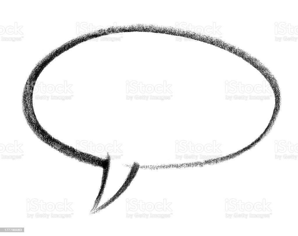 speech balloon icon vector art illustration