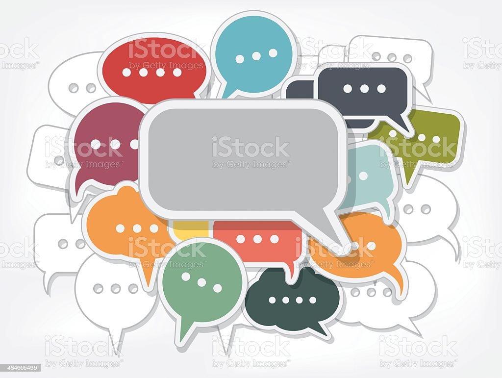 Speech bubble icons vector art illustration