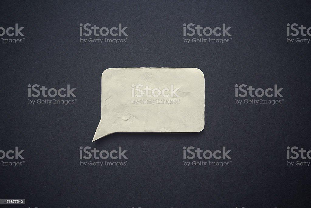 Speech bubble of plasticine or clay vector art illustration