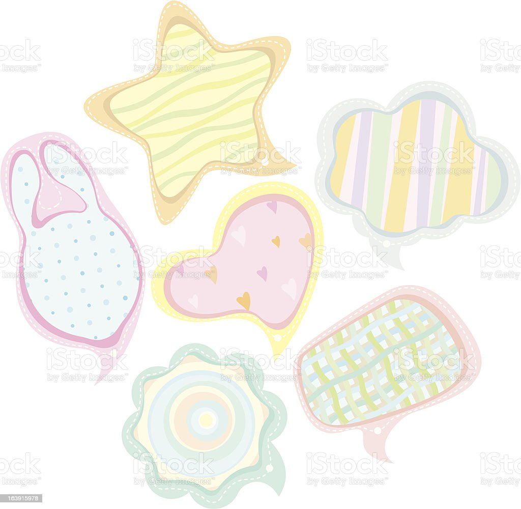 Speech bubbles illustration set (baby style) royalty-free speech bubbles illustration set stock vector art & more images of bubble