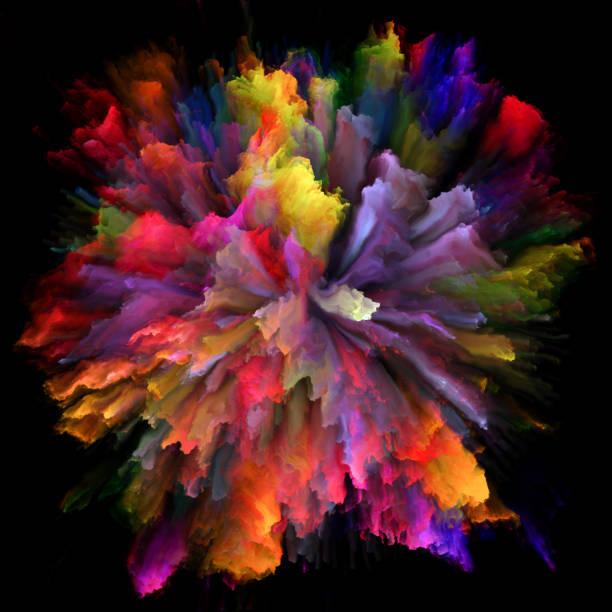 Speed of Color Splash Explosion vector art illustration