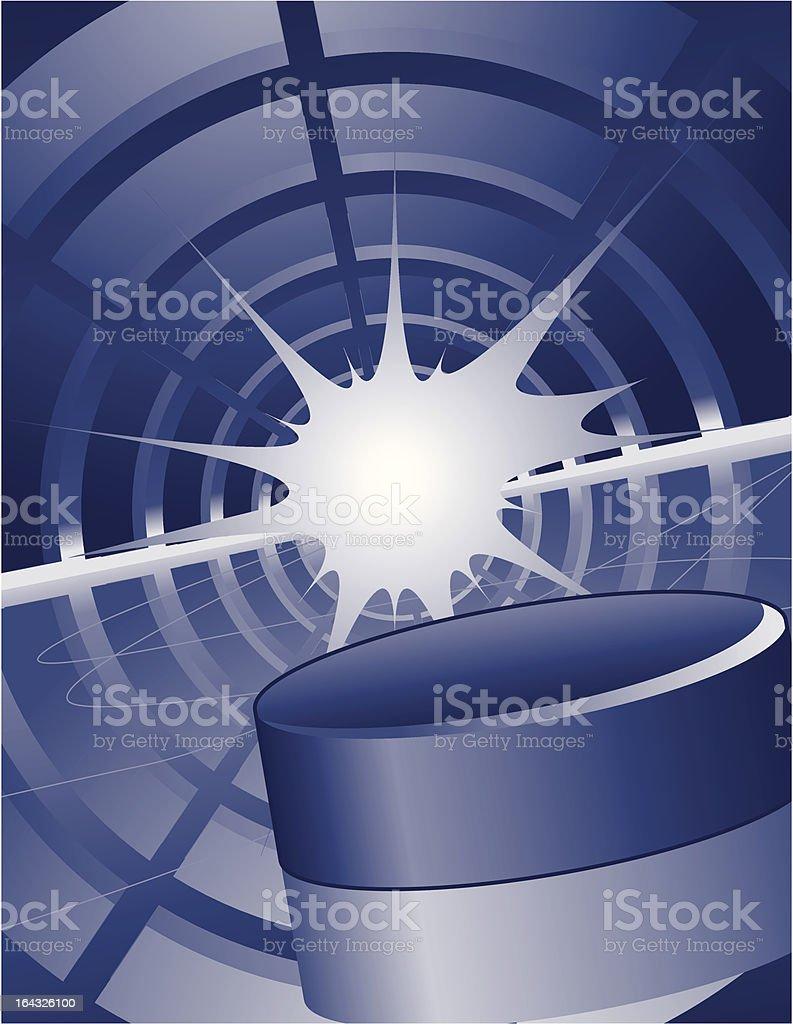 Speeding Hockey Puck royalty-free stock vector art