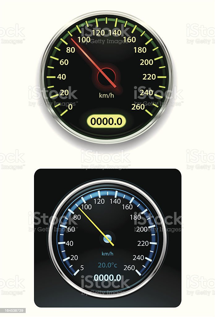 Speedometers royalty-free stock vector art