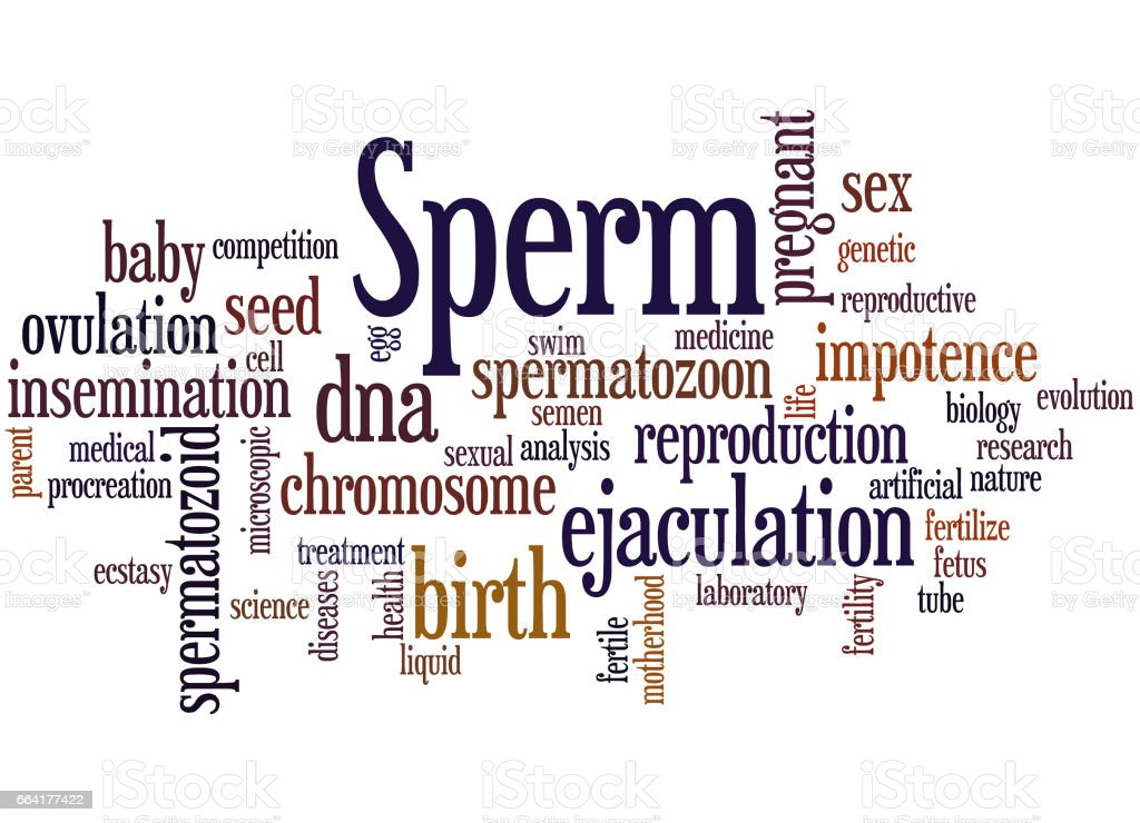 Sperm, word cloud concept 8 vector art illustration
