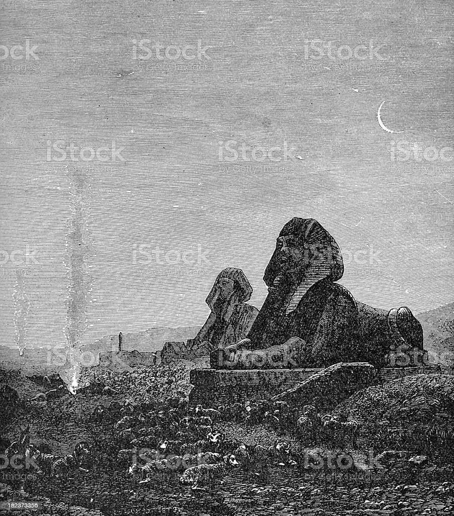 Sphinx of Ancient Eygpt vector art illustration