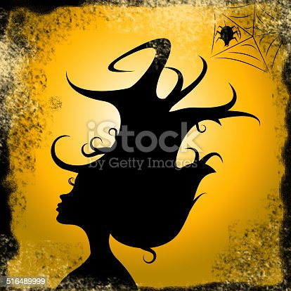 Woman Hair Representing Trick Or Treat And Happy Halloween