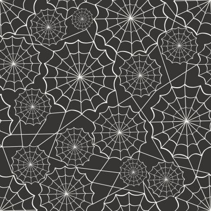 Spiderweb Seamless Background Pattern