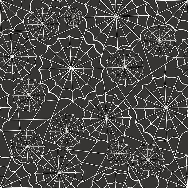 stockillustraties, clipart, cartoons en iconen met spiderweb seamless background pattern - toestand