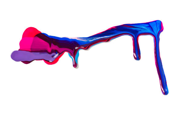 spilled colorful nail polish on white background. blue and pink  paint  stains. spilled colorful nail polish isolated on white background. blue and pink paint  stains. white nail polish stock illustrations