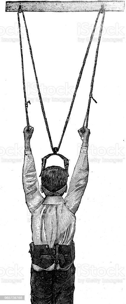 Spinal column extension device - Стоковые иллюстрации 1890-1899 роялти-фри