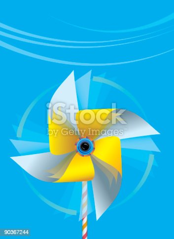 Spinning Pinwheeleps Stock Vector Art & More Images of Alternative Energy 90367244