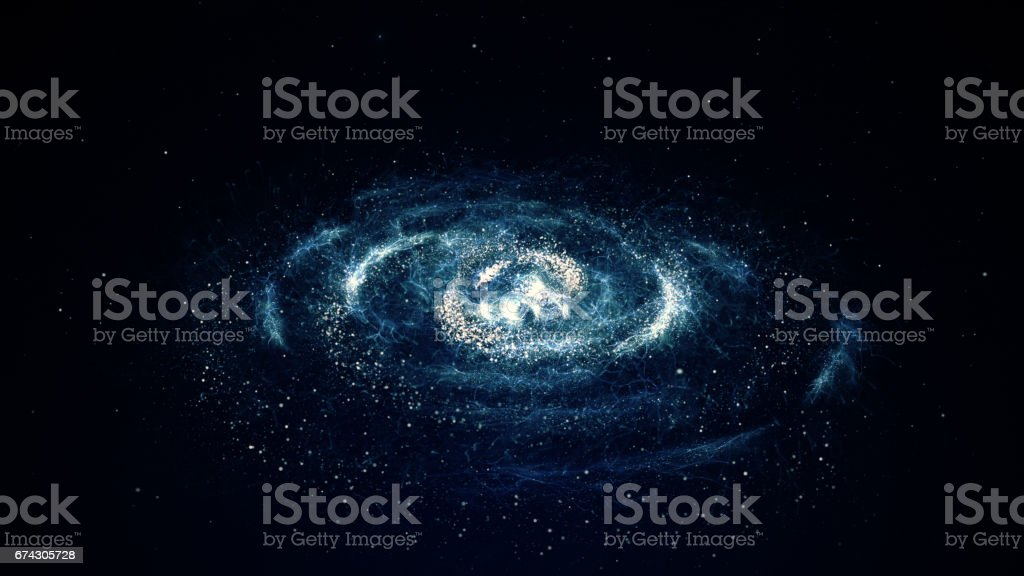 Spiral galaxy vector art illustration