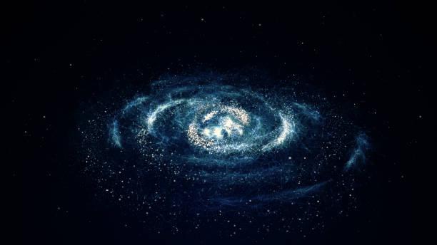 Spiral galaxy vector art illustration
