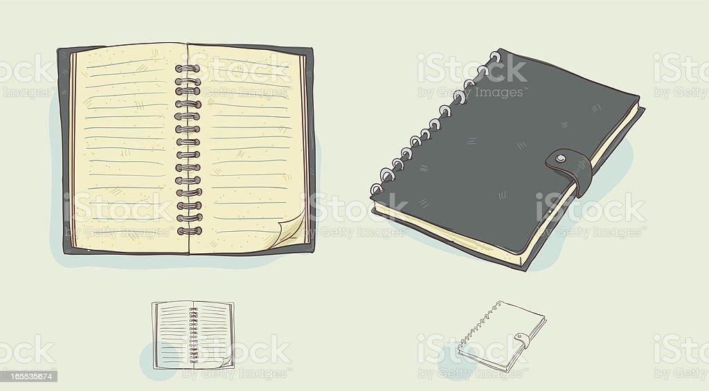 Spiral Notebook vector art illustration