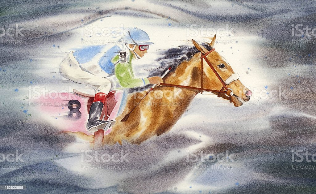 Spirit Of The Thoroughbred vector art illustration