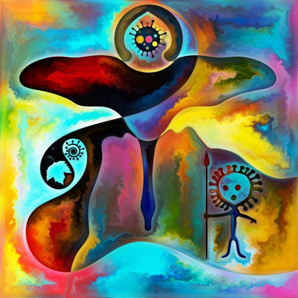 Spirit of the Virus vector art illustration