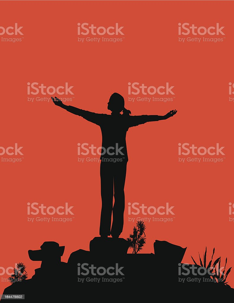 Spiritual Person royalty-free stock vector art