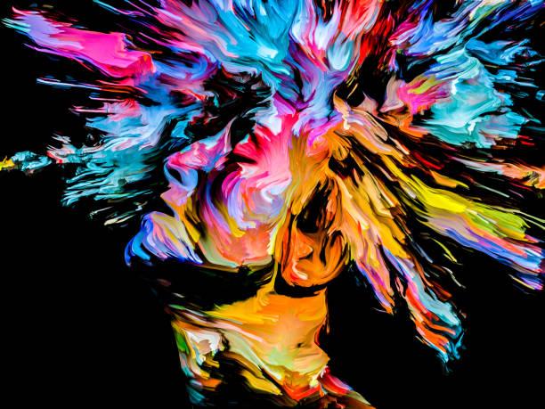 Splash of Imagination vector art illustration