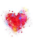 istock Splattered heart 531430483