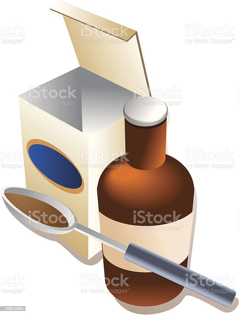 Spoonful of medicine royalty-free stock vector art