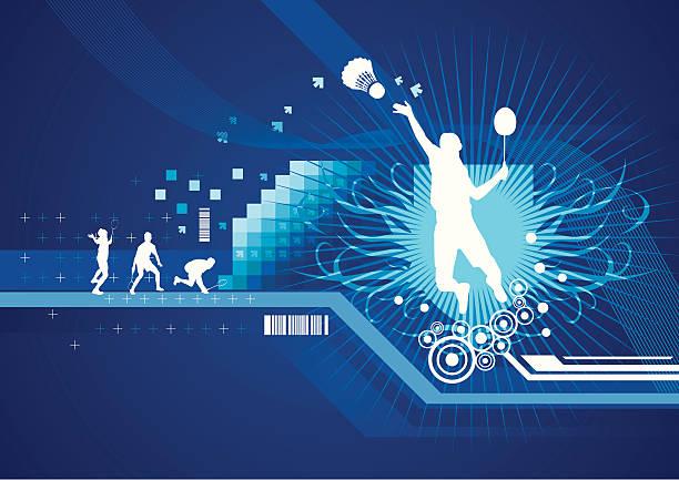 sport abstrakte - badminton stock-grafiken, -clipart, -cartoons und -symbole