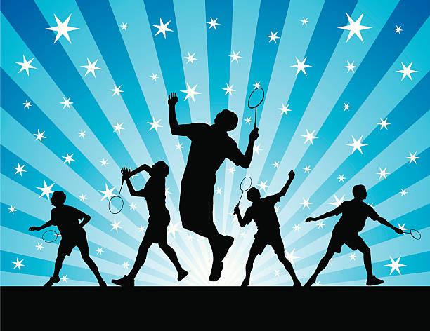 sport abstract - badminton smash stock illustrations