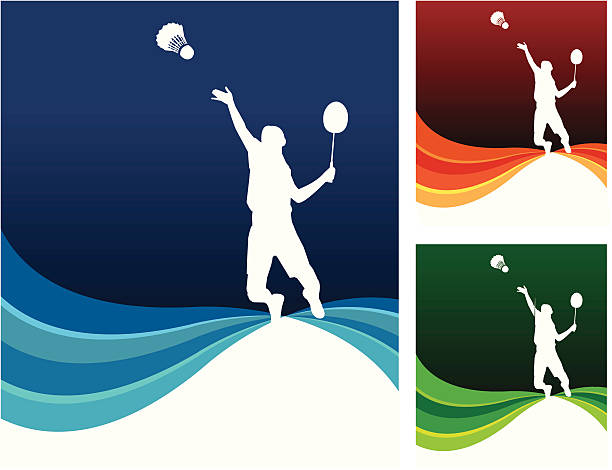 sport background - badminton smash stock illustrations
