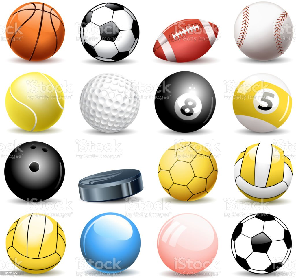 sport balls royalty-free stock vector art