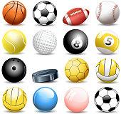 drawn of vector sport balls illustrations.