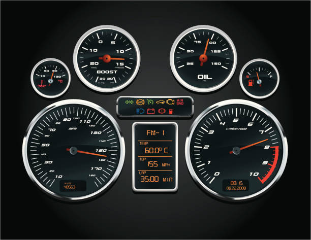 Sport Car Speedometer Sport Car Speedometer gauge stock illustrations
