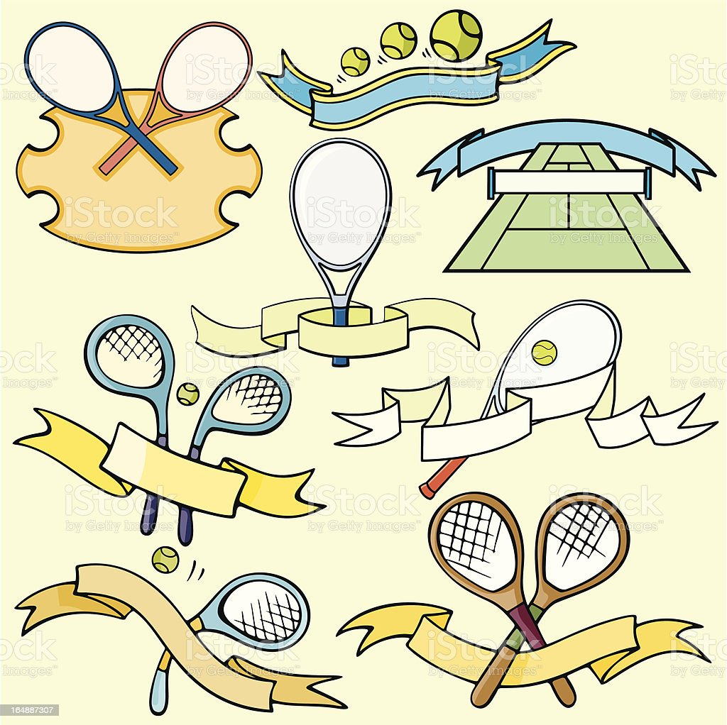 Sport Emblems XI: Tennis I (Vector) royalty-free sport emblems xi tennis i stock vector art & more images of activity