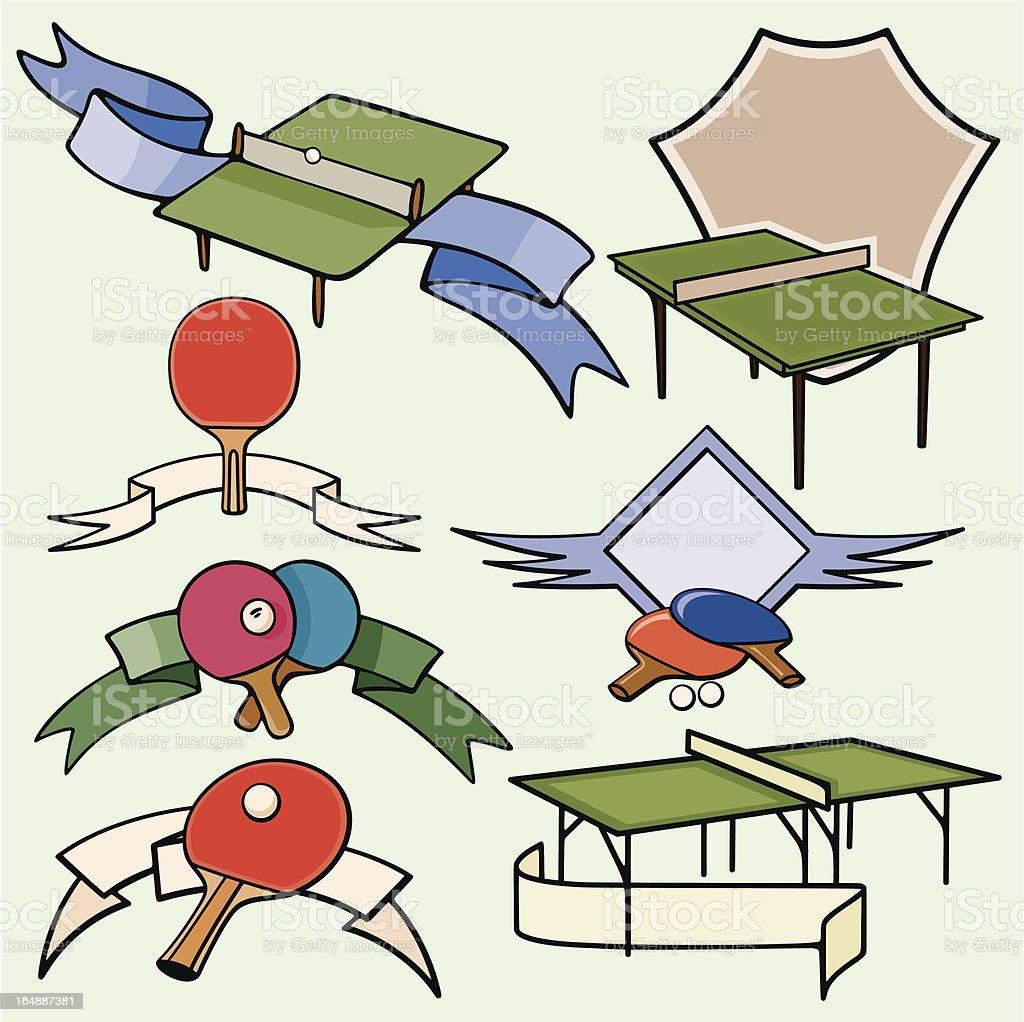 Sport Emblems XXI: Table Tennis ( Vector) royalty-free stock vector art