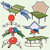 Sport Emblems XXI: Table Tennis ( Vector)