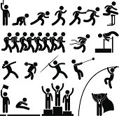 istock Sport Field and Track Game Event Pictogram 164449304