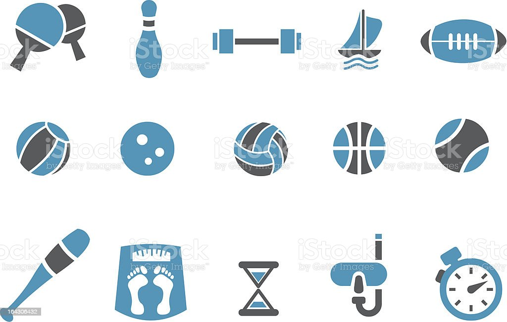 Sport Icon Set royalty-free sport icon set stock vector art & more images of body building