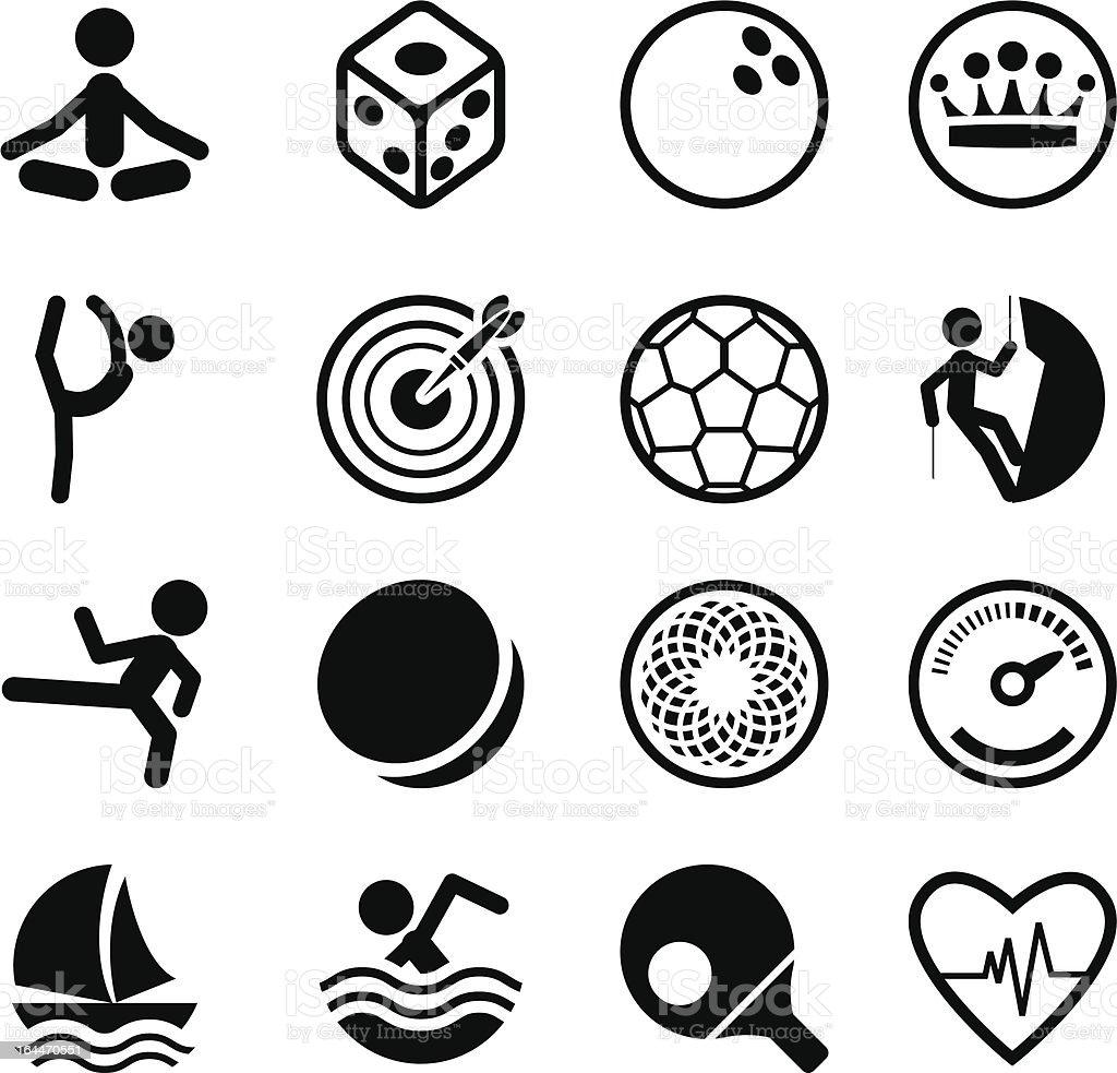 Sport Icon Set royalty-free stock vector art
