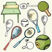 Sport Icons I: Tennis & Badminton (Vector)
