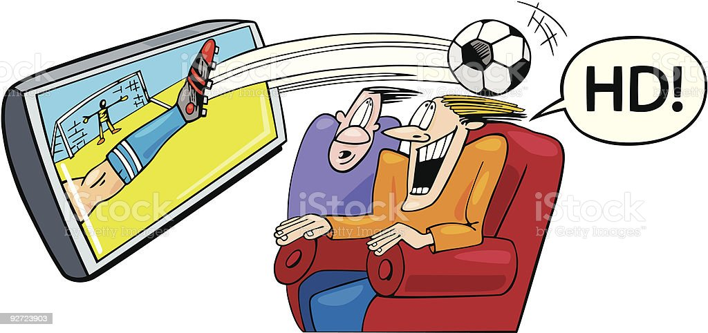 Sport on high definition television royalty-free sport on high definition television stock vector art & more images of adult
