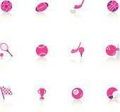 Useful web icons and design elements about sports.