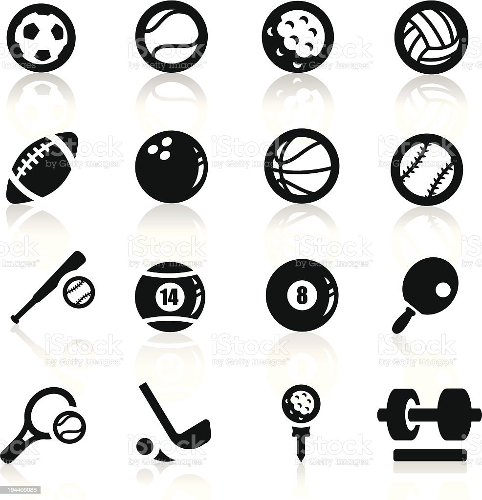 Sports icons set Elegant series royalty-free stock vector art