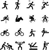 People icons representing sports. See more in this series.