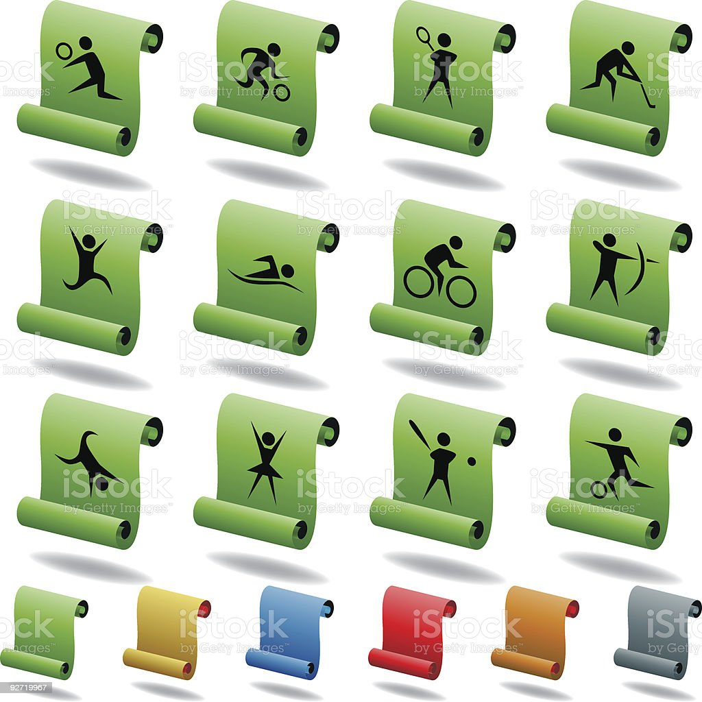 Sports Scroll Icons royalty-free sports scroll icons stock vector art & more images of archery