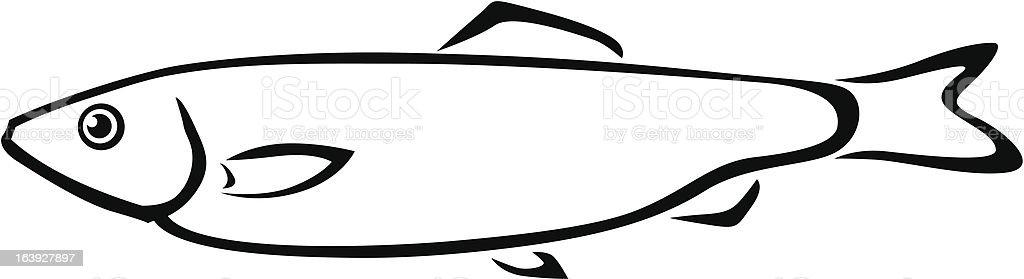 Sprat pescado - ilustración de arte vectorial