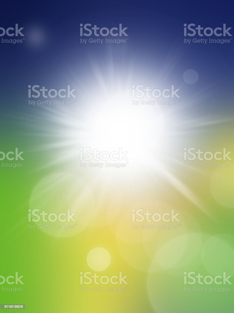 Spring Abstract Background With Blue And Grin Color Royalty Free