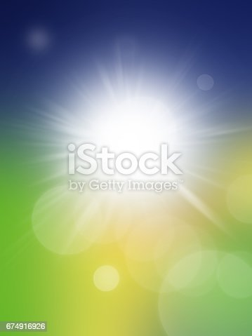 Spring Abstract Background With Blue And Grin Color Stock Vector Art More Images Of 674916926