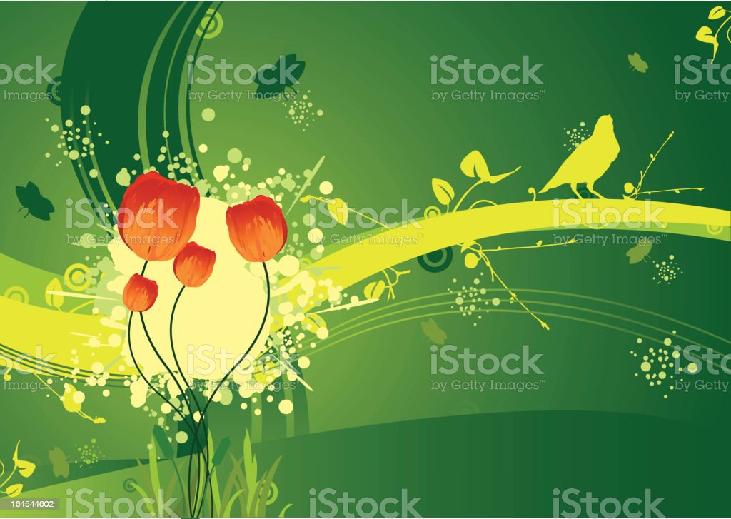 Spring and tulips royalty-free stock vector art