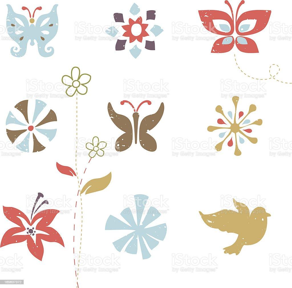 Spring bling vector art illustration