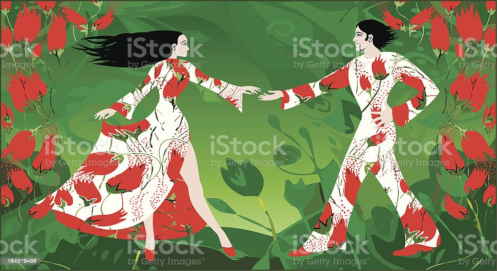 Spring dance royalty-free spring dance stock vector art & more images of adult