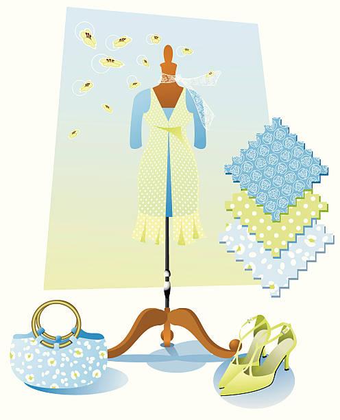 spring fashion - spring fashion stock illustrations, clip art, cartoons, & icons